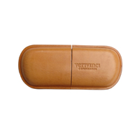verivinci leather eye glasses case. Rav ox hide