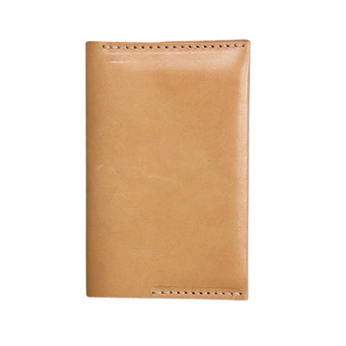 verivinci leather credit card wallet organic tanned